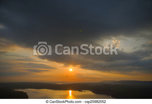 sunrise in the mountains - csp25982052