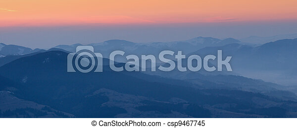 Sunrise in the Mountains - csp9467745
