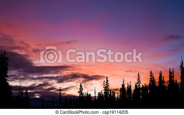 Sunrise in the Mountains - csp19114205
