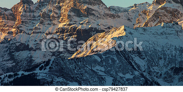 Sunrise in the Mountains - csp79427837