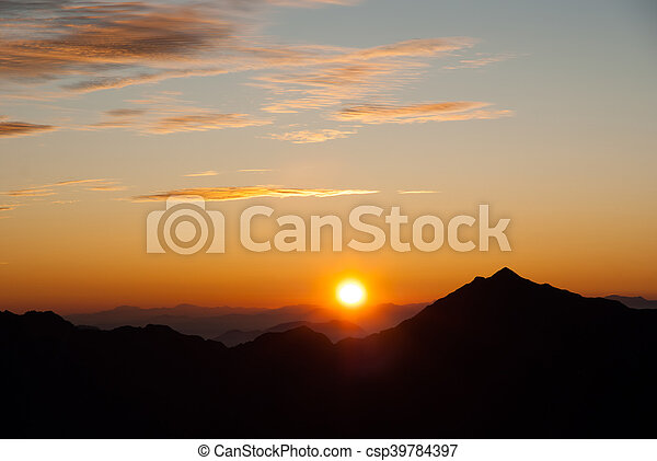 Sunrise in the Northern Alps - csp39784397