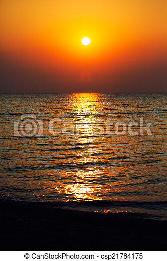 sunrise in the sea  - csp21784175