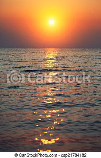 sunrise in the sea  - csp21784182