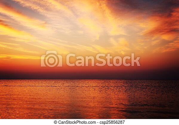 sunrise in the sea - csp25856287