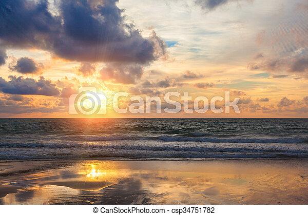 sunrise in the sea - csp34751782