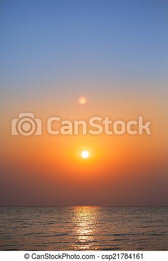 sunrise in the sea  - csp21784161