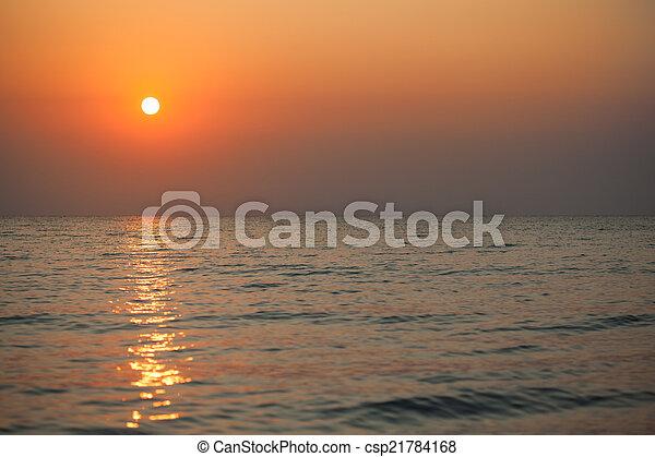 sunrise in the sea  - csp21784168