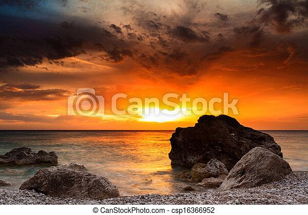 sunrise in the sea - csp16366952