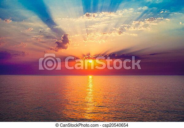 sunrise in the sea - csp20540654