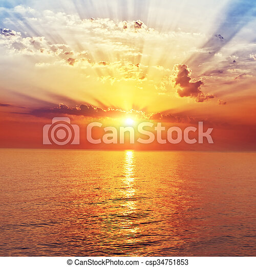 sunrise in the sea - csp34751853