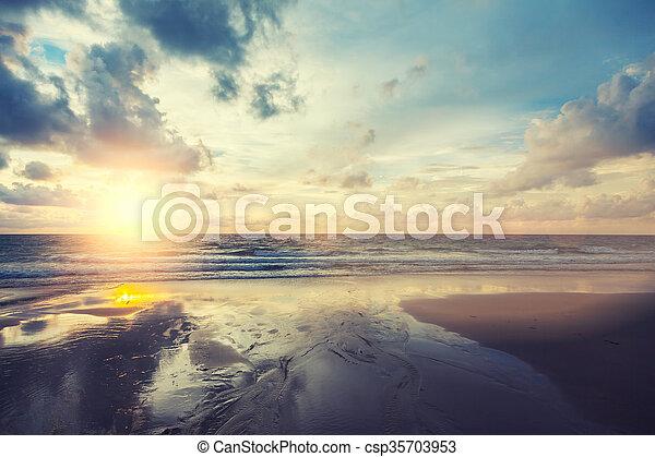 sunrise in the sea - csp35703953