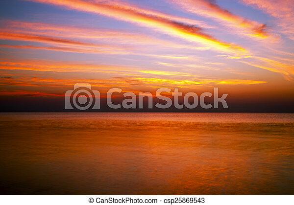 sunrise in the sea - csp25869543