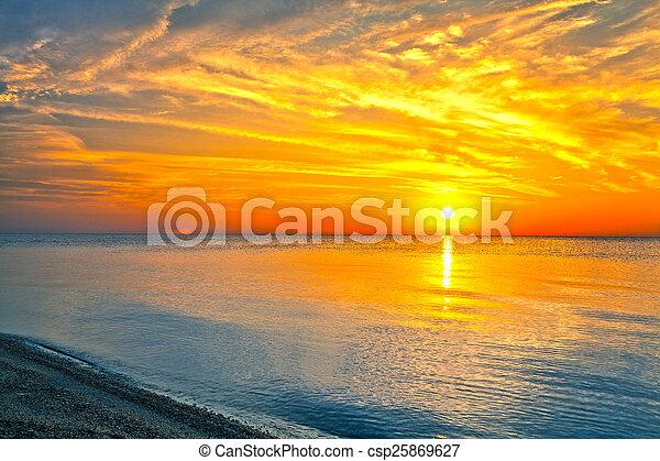 sunrise in the sea - csp25869627