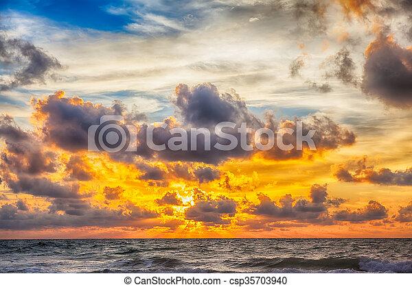 sunrise in the sea - csp35703940