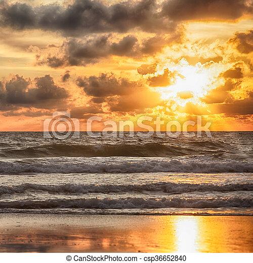 sunrise in the sea - csp36652840