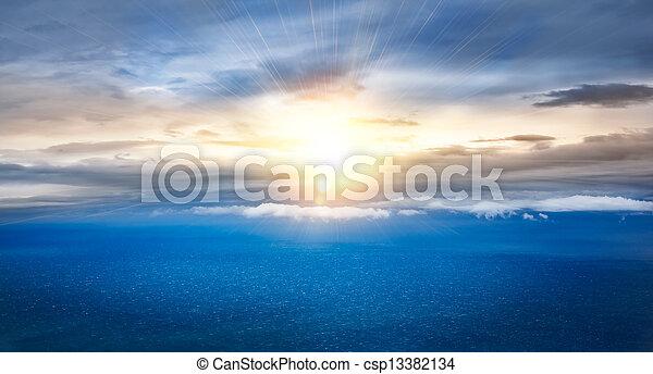 sunrise in the sea  - csp13382134