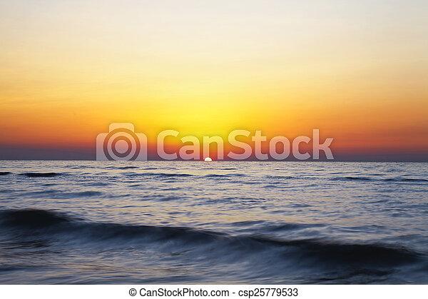 sunrise in the sea - csp25779533