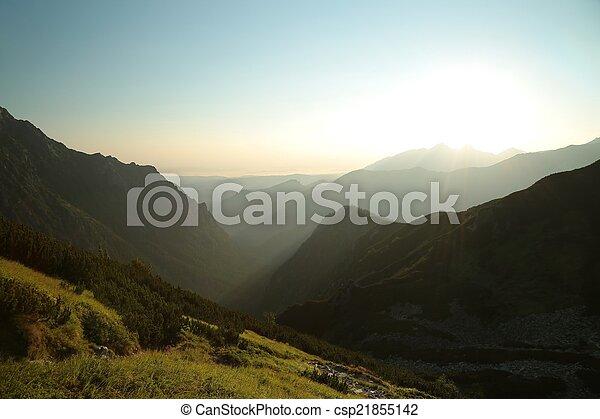Sunrise in the Tatra Mountains - csp21855142