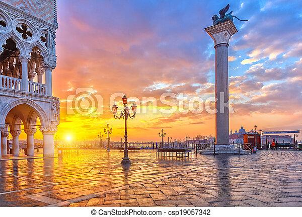 Sunrise in Venice - csp19057342