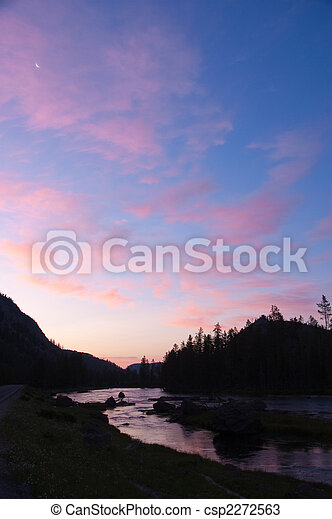 Sunrise in Yellowstone - csp2272563