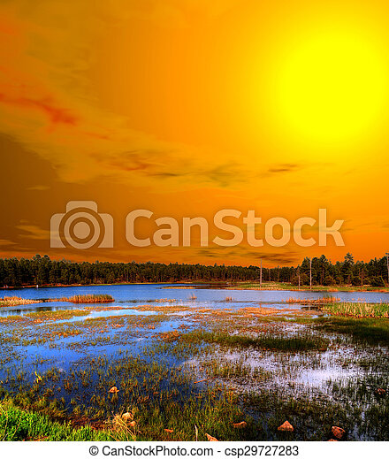 Sunrise Lake of the Woods Arizona - csp29727283