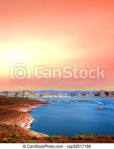 Sunrise Lake Powell Arizona - csp32517186