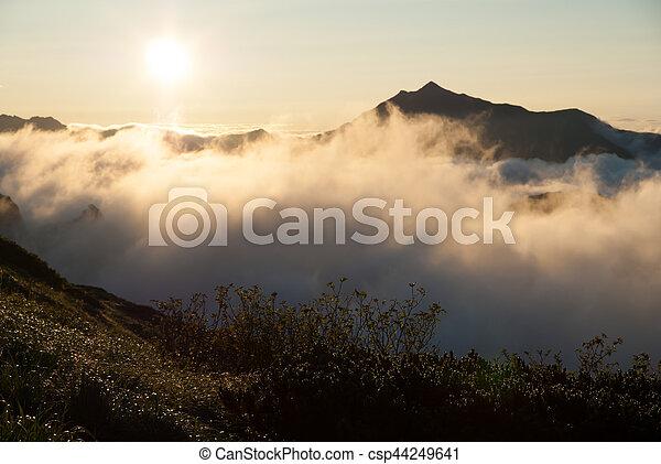 Sunrise of the North Alps - csp44249641