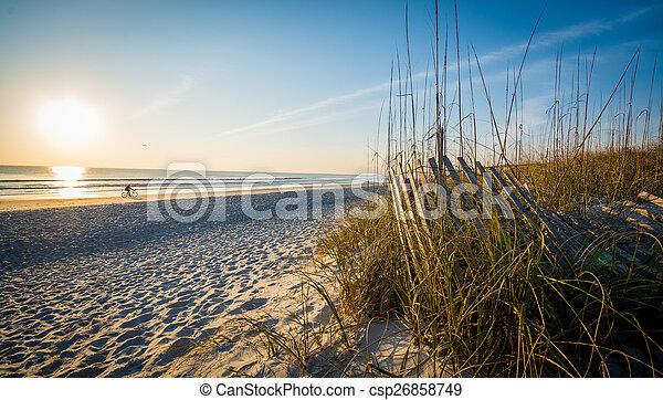 Sunrise on the Beach - csp26858749