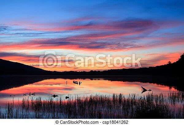 Sunrise on the Lake - csp18041262