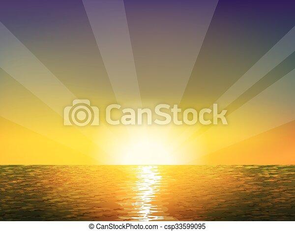 Sunrise on the sea - csp33599095