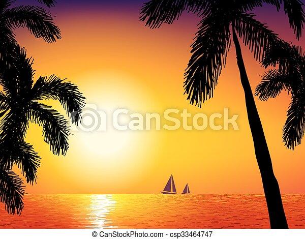 Sunrise on the sea - csp33464747