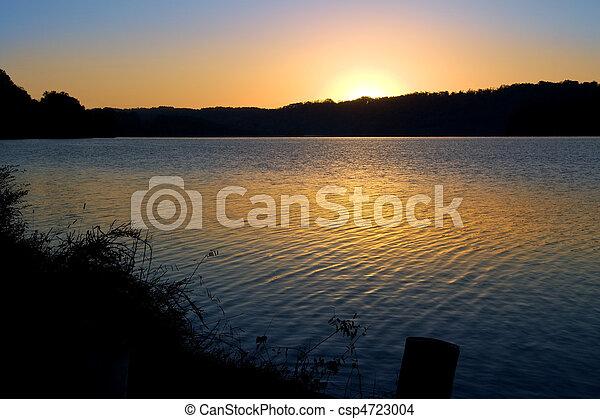 Sunrise Over Lake - csp4723004
