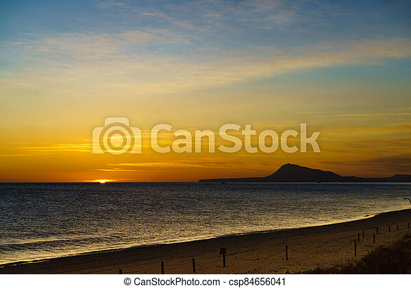 Sunrise over sea - csp84656041