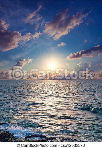 Sunrise over the sea - csp12532570