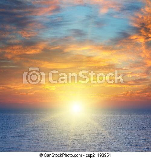 sunrise over the sea - csp21193951