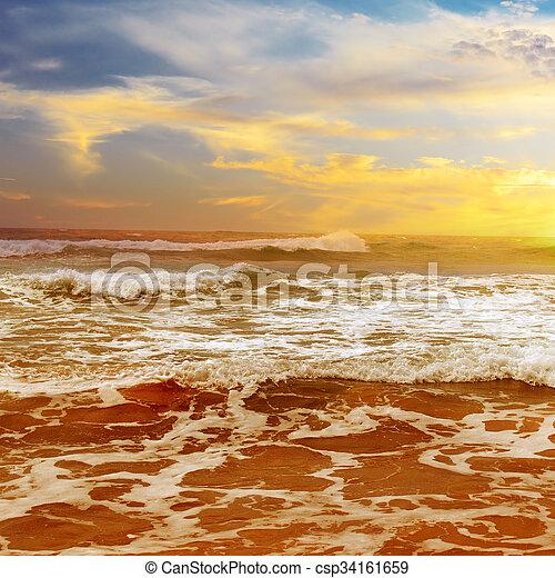 sunrise over the sea - csp34161659