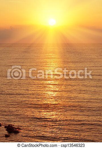 Sunrise over the sea - csp13546323
