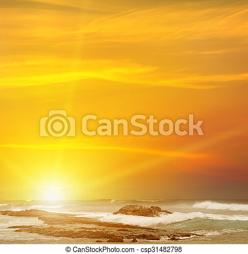 sunrise over the sea - csp31482798