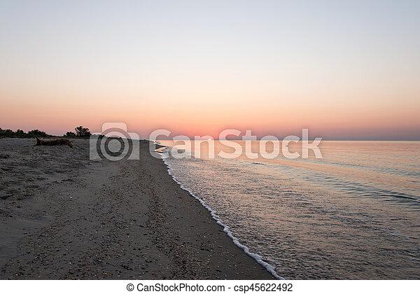 sunrise over the sea - csp45622492