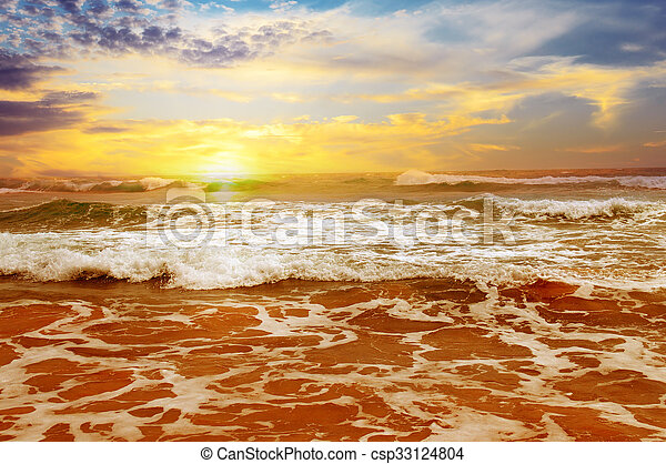 sunrise over the sea - csp33124804