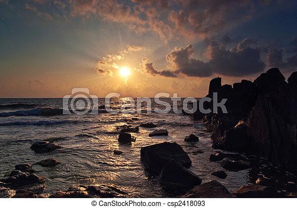 Sunrise over the sea - csp2418093