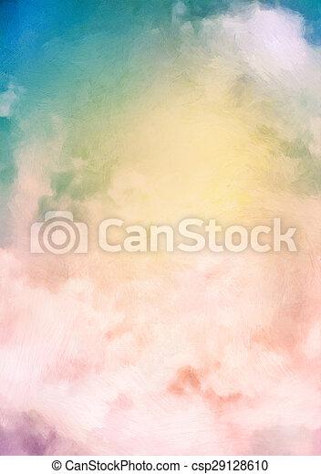 Sunrise Sky Painting Background - csp29128610