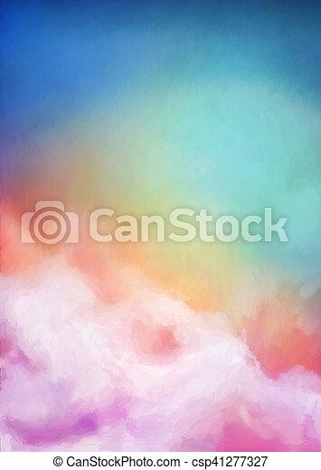 Sunrise Sky Painting Background - csp41277327