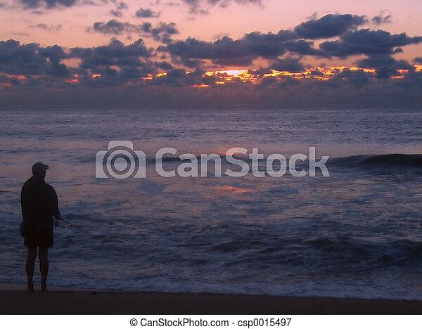Sunrise Surf Fishin - csp0015497