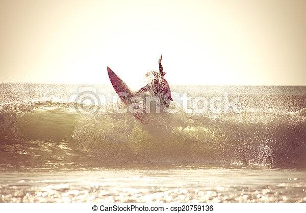 Sunrise Surfing - csp20759136
