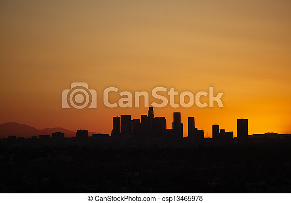 Sunrise with heat haze of downtown los angeles skyline picture sunrise with heat haze of downtown los angeles skyline stock photo sciox Gallery