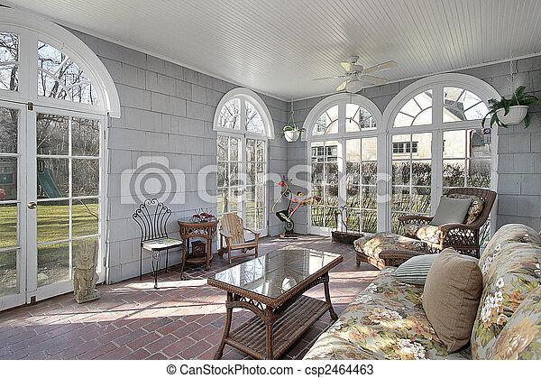 sunroom, gård, baksida, synen - csp2464463