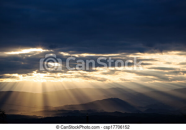 sunset and clouds sky - csp17706152