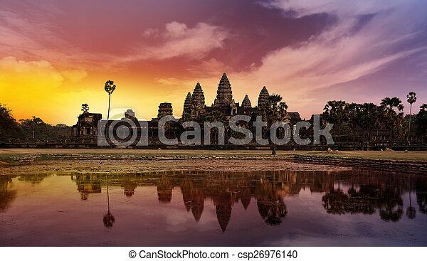 sunset at Angkor - csp26976140