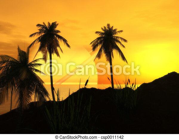 Sunset at Argon Bea - csp0011142